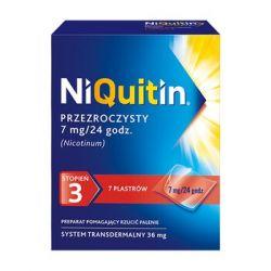 Niquitin * Przeźroczysty system transdermalny - stopień 3 * Plastry  7 mg / 24 h * 7 sztuk