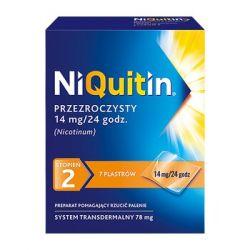 Niquitin * Przeźroczysty system transdermalny - stopień 2 * Plastry  14 mg / 24 h * 7 sztuk