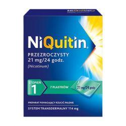 Niquitin * Przeźroczysty system transdermalny - stopień 1 * Plastry  21 mg / 24 h * 7 sztuk