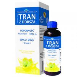 DOMOWA APTECZKA - Tran z dorsza * Smak cytrynowo-limonkowy * 250 ml
