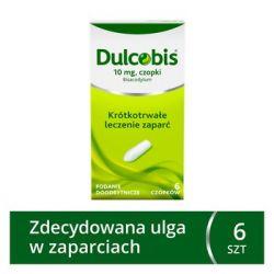Dulcobis * 10 mg czopki * 6 sztuk