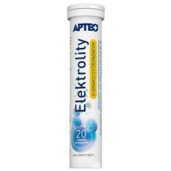 Apteo Elektrolity * tabletki musujące o smaku cytrynowym * 20 sztuk