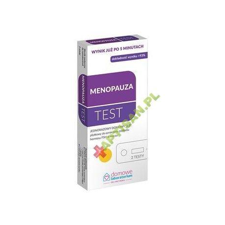 Domowe Laboratorium * Menopauza - test płytkowy * 1 opakowanie - 2 testy