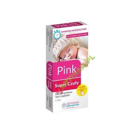 Domowe Laboratorium * PINK Super Czuły - płytkowy test ciążowy * 1 sztuka