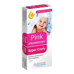 Domowe Laboratorium * PINK Super Czuły - strumieniowy test ciążowy * 1 sztuka