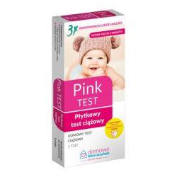 Domowe Laboratorium * PINK - płytkowy test ciążowy * 1 sztuka