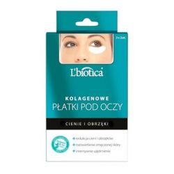 L`Biotica * Kolagenowe płatki pod oczy - redukcja cieni i obrzęków * 3 x 2 sztuki