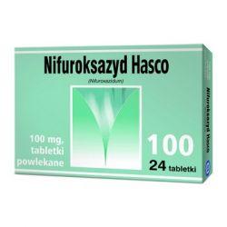 Nifuroksazyd Hasco * 100 mg * 24 tabletek powlekanych