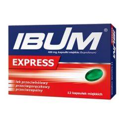 Ibum Express * 400 mg * 12 kapsułek miękkich