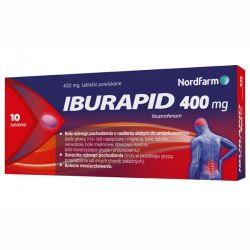 Iburapid * 400 mg ibuprofenu * 10 tabletek