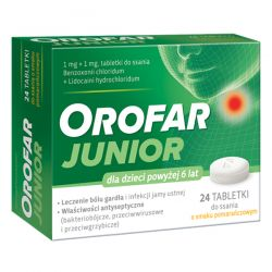 Orofar JUNIOR* tab.do ssania * 24 sztuk