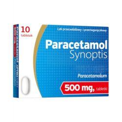 Paracetamol Synoptis - tabletki - 0,5 g * 10 sztuk