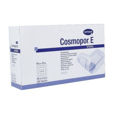 Opatrunek Cosmopor E-plastry jałowe * rozm 15 X 8 cm - 25 szt