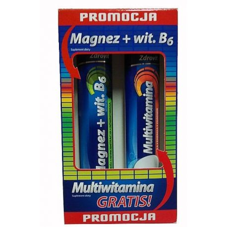 Zdrovit - ZESTAW  * Magnez + vit B6 - 20 tabl * Multiwitamina - 20 tabl