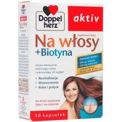 Doppelherz Aktiv * Na włosy + Biotyna *  30 kapsułek