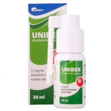 Uniben - aerozol * do stosowania.w jamie ustnej* 30 g
