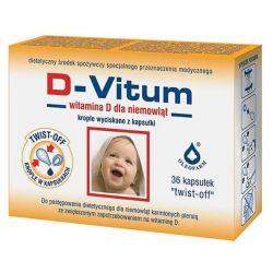 D-Vitum * Witamina D dla niemowląt * 36  kaps. twist-off