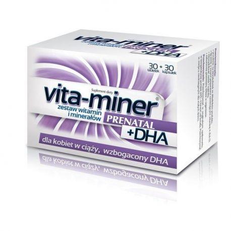 Vita Miner - Prenatal DHA * 30 tabletek + 30 kapsułek