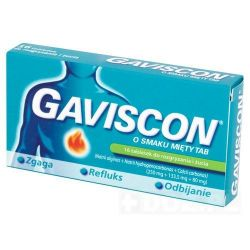 Gaviscon o smaku mięty * 16 szt,