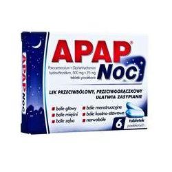 Apap - Noc * 6 tabletek