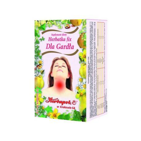 Herbapol * Herbatka fix - dla gardła * 20 saszetek