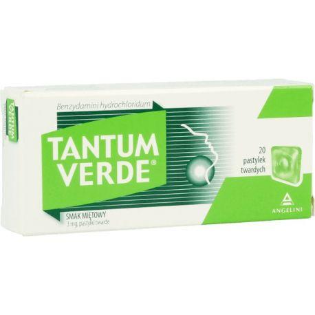Tantum Verde - miętowy * pastylki do ssania * 20 szt