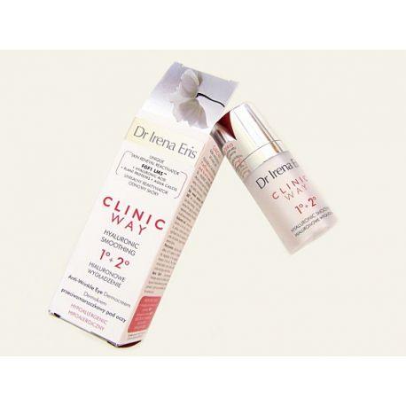 Eris Clinic Way 30+ i 40+ * Przeciwzmarszczkowy Krem pod oczy, hialuronowe wygładzenie na dzień i na noc, 15 ml