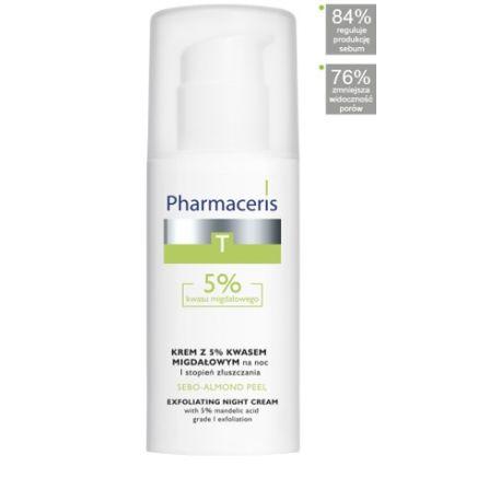 Pharmaceris T Sebo - Almond Peel 5 %*  Krem złuszczający do twarzy * 50 ml