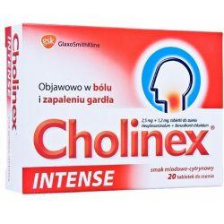 Cholinex Intense * smak miodowo - cytrynowy * 20 pastylek