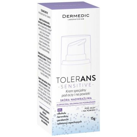 Dermedic Tolerans Sensitive * Krem pod oczy - 15 ml