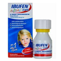 Ibufen Forte - dla dzieci * zawiesina o smaku truskawkowym * 100 ml
