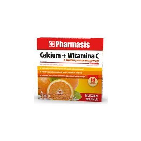 Pharmasis Calcium + Witamina C *  Smaku pomarańczowy * 16 tabl