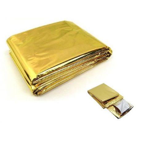 Koc Ratunkowy Srebrno -Złoty *  210cm  x 160cm