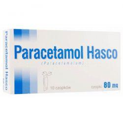 Paracetamol HASCO - czopki 80mg  * 10szt