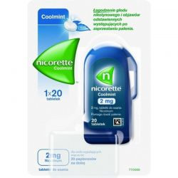 Nicorette Coolmint 2 mg * 20 tabletek do ssania