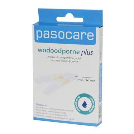 Pasocare * Plastry  wodoodporne Plus *  rozm. - 1,9cm x 7,2cm - 10 szt