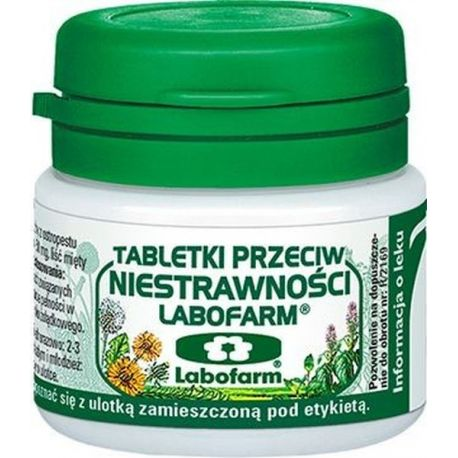 Tabletki p/ niestrawności- Labofarm * 20 szt