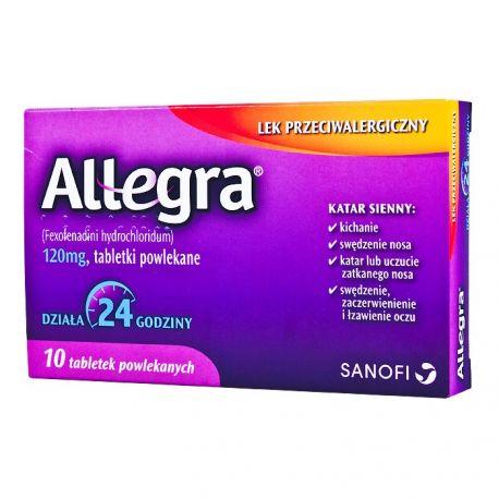 Allegra 0,12 g *10 tabl