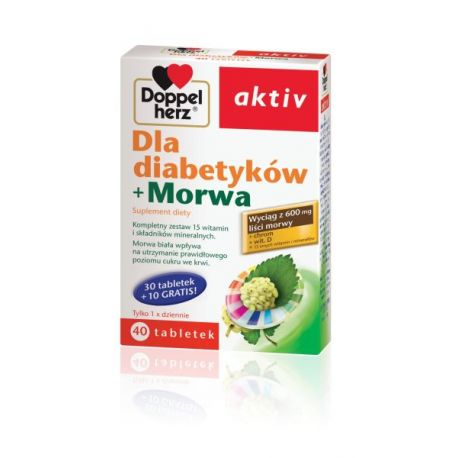 Doppelherz Aktiv * Dla Diabetyków + Morwa * 40 tabl