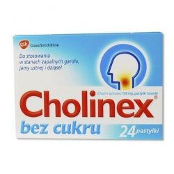 Cholinex - bez cukru * 24 pastylki