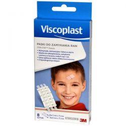 Viscoplast - Steri-Strip * paski do zamykania ran-białe *  6 x75mm , 3x75mm * 5 szt + 3 szt