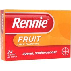 Rennie Fruit *24 tabl. do ssania