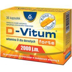 D-Vitum Forte 2000j.m. * 36 kaps