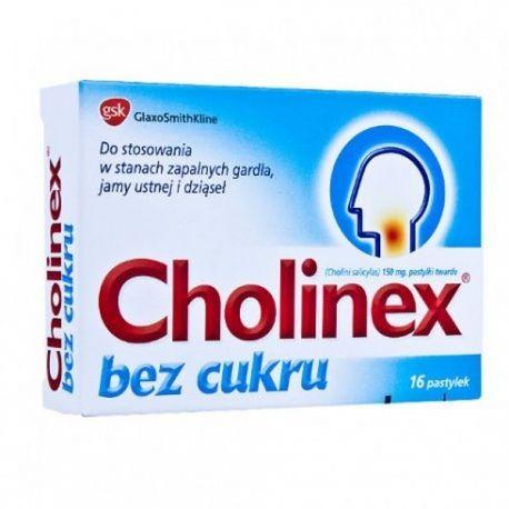 Cholinex - bez cukru * 16 pastylek