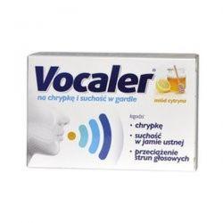 Vocaler - pastylki do ssania * Smak miodowo-cytrynowy * 12 szt