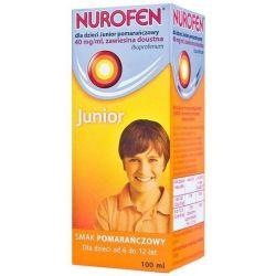 Nurofen Junior * zawiesina o smaku pomarańczowym * 100 ml