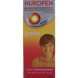 Nurofen Junior * zawiesina o smaku truskawkowym *100 ml