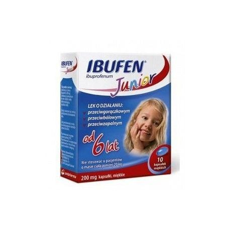 Ibufen Junior - 200 mg * 10 kapsułek