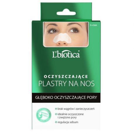 L Biotica * Plastry na nos - z węglem drzewnym * 3 sztuki