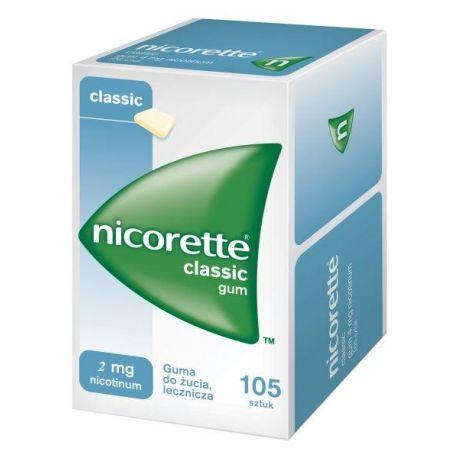 Nicorette Classic * guma do żucia 2 mg * 105 sztuk
